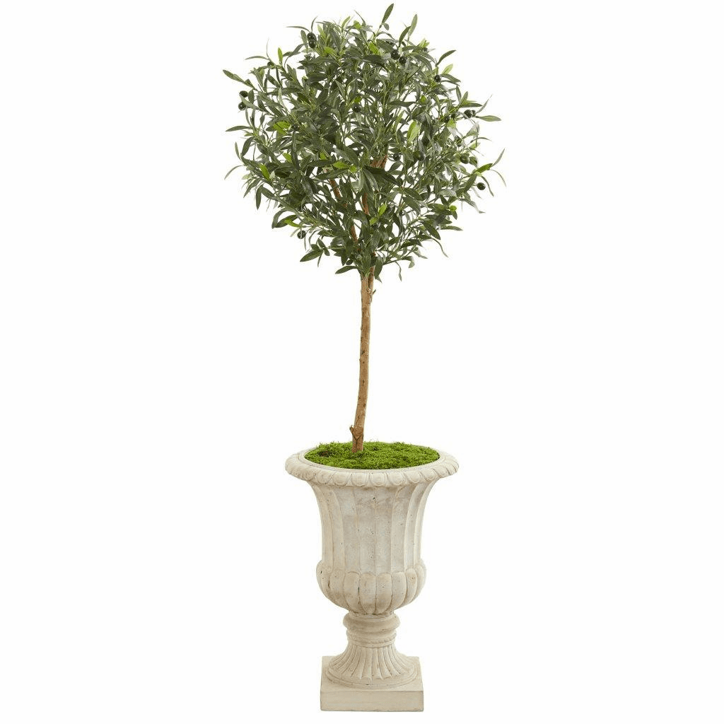 57� Olive Artificial Tree in Decorative Urn