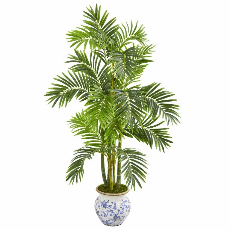 58� Areca Palm Artificial Tree in Floral Planter -