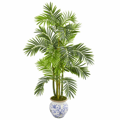 """58"""" Areca Palm Artificial Tree in Floral Planter -"""