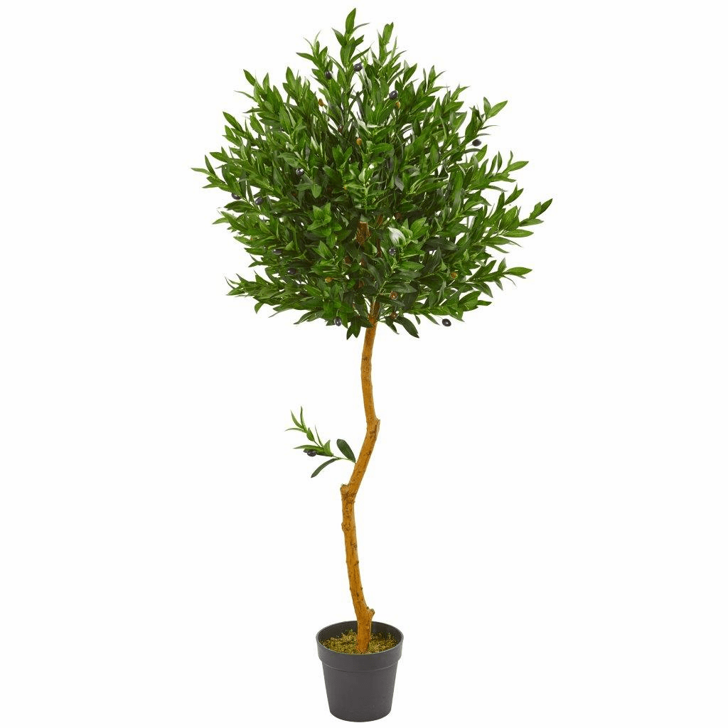 58� Olive Topiary Artificial Tree UV Resistant (Indoor/Outdoor)