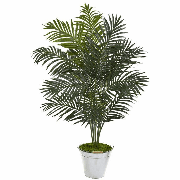 58� Paradise Palm Artificial Tree in Metal Bucket -
