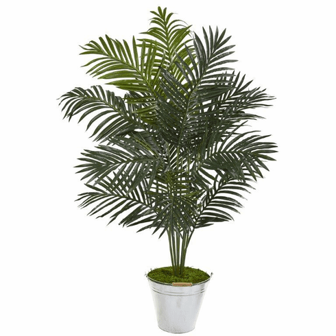 """58"""" Paradise Palm Artificial Tree in Metal Bucket -"""
