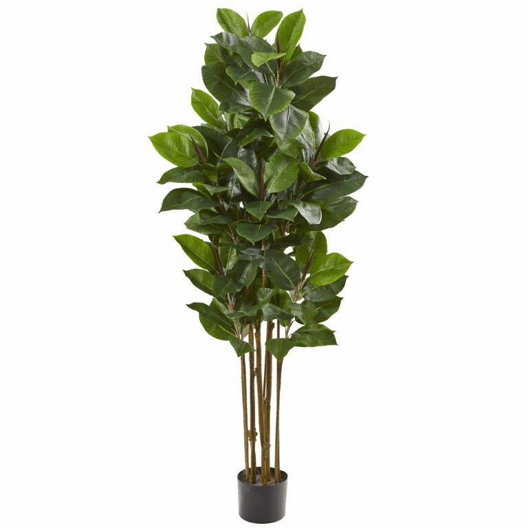 58� Rubber Leaf Artificial Tree