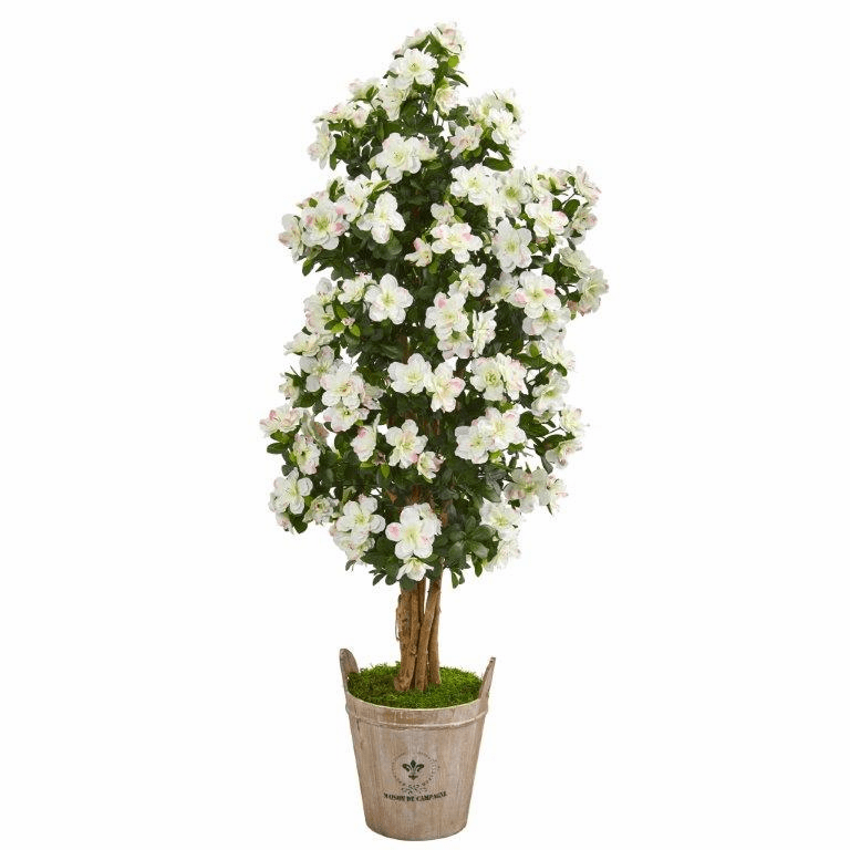 59� Azalea Artificial Tree in Farmhouse Planter