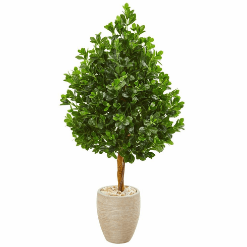 "59"" Evergreen Artificial Tree in Sand Finished Planter"