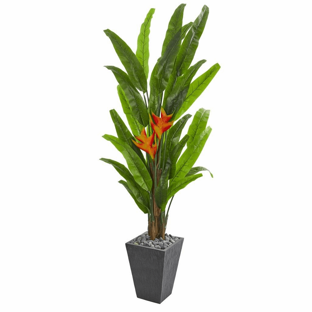 6.5� Heliconia Artificial Plant in Slate Planter