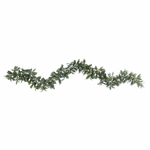 6.5' Olive Artificial Garland
