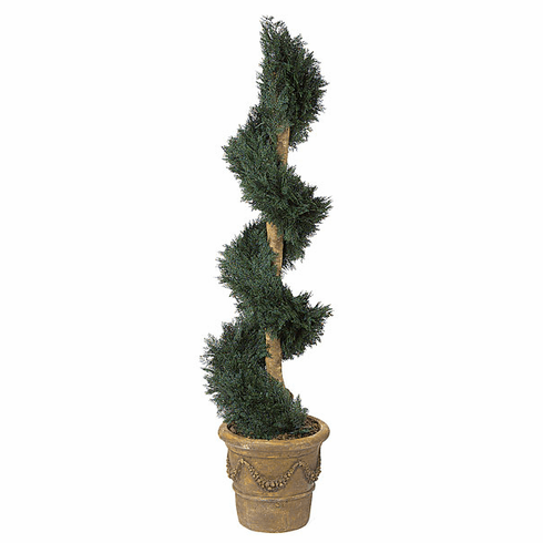 6' Artficial Juniper Spiral Topiary Outdoor UV Infused Plant
