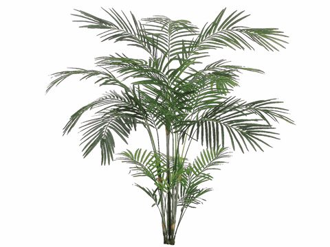 6' Artficial Tropical Areca Palm x 4 Artficial fronds with 705 Leaves