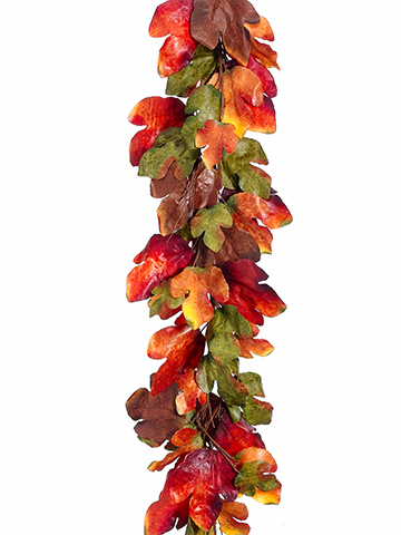 6' Artificial Maple Leaf Garland Strands - Set of 2