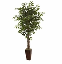 6'  Ficus Artificial Tree with Bamboo Planter