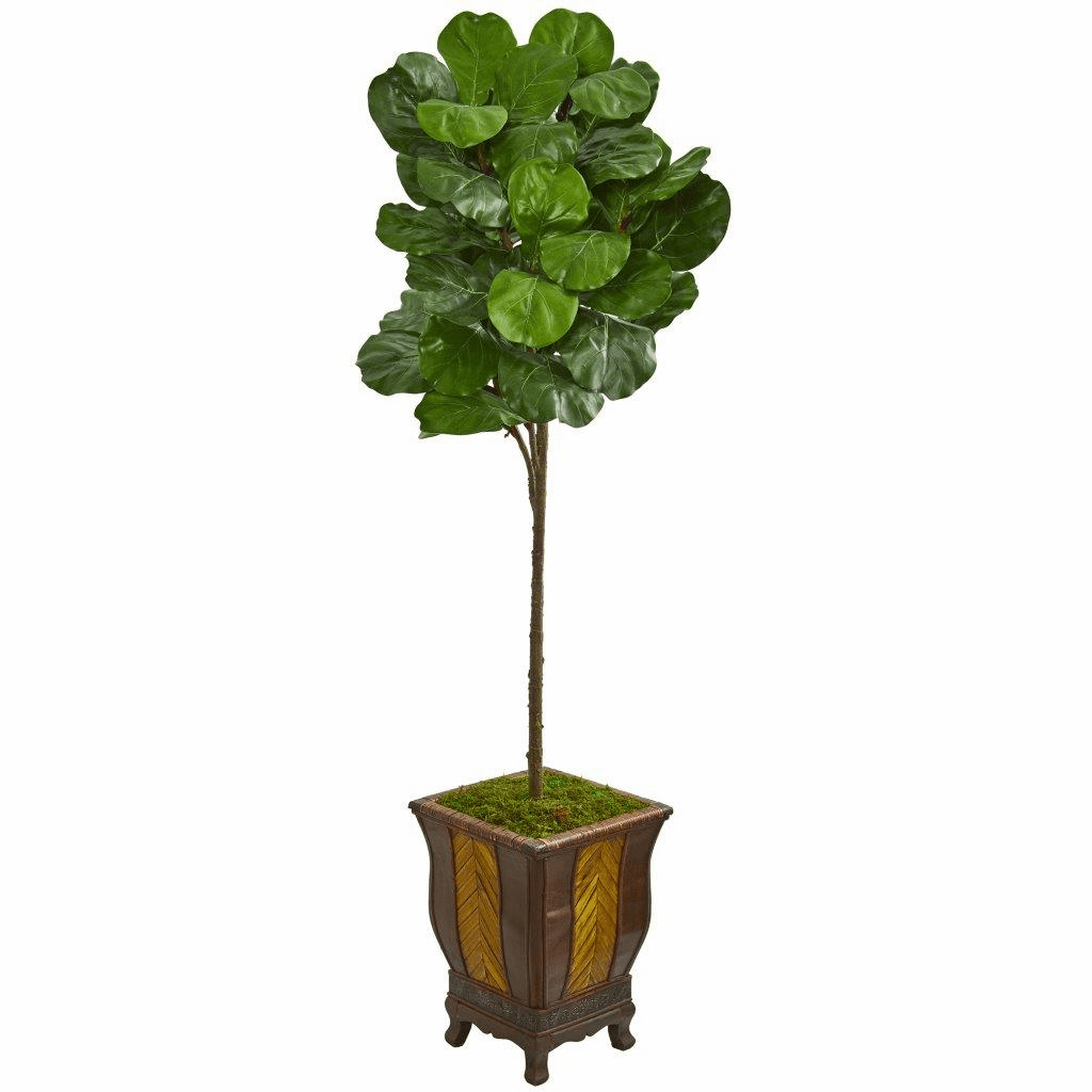 6� Fiddle Leaf Artificial Tree in Decorative Planter