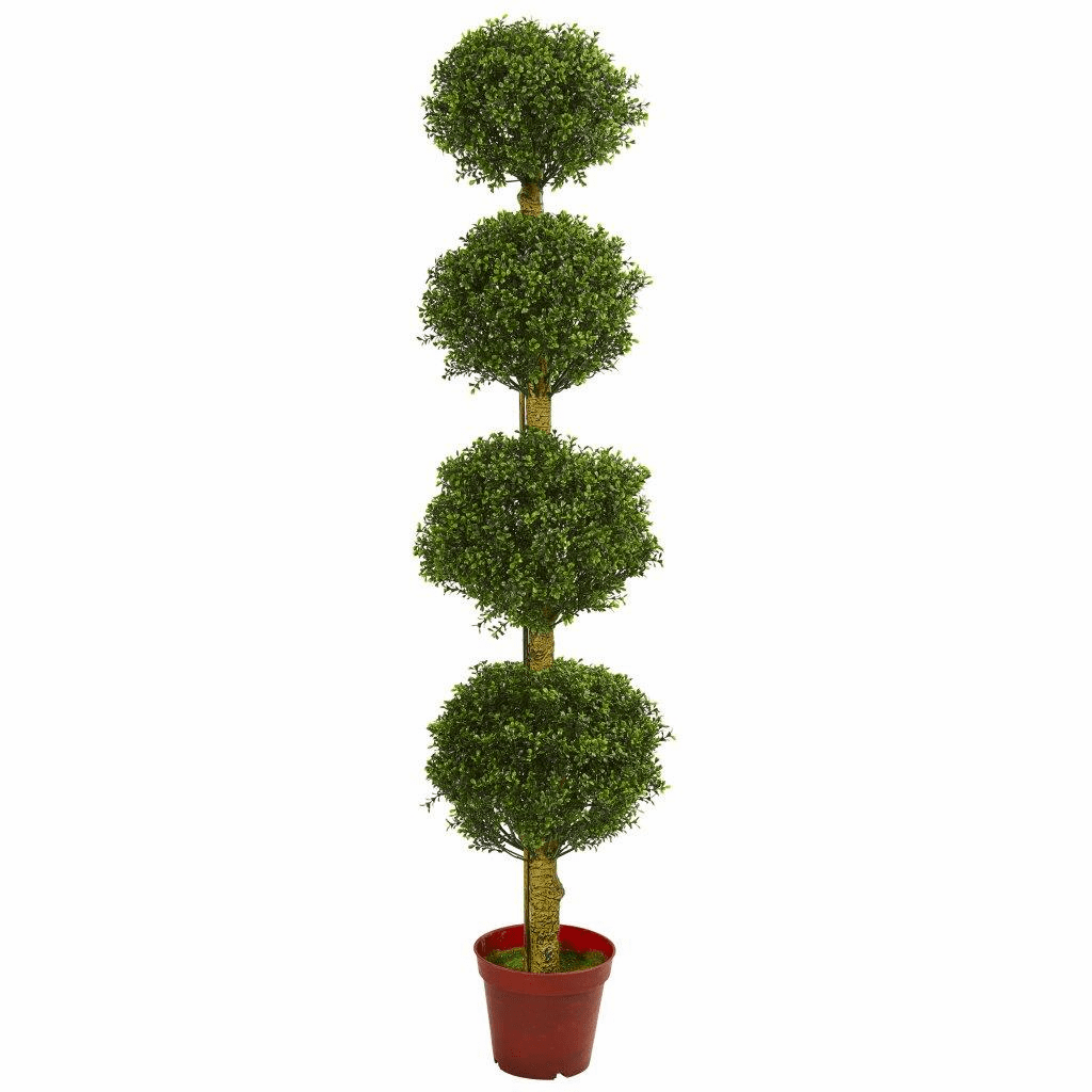 6� Four Tier Boxwood Artificial Topiary Tree UV Resistant (Indoor/Outdoor)
