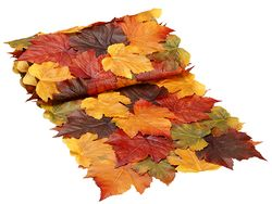 6u0027 Long Artificial Maple Leaf Fall Table Runner
