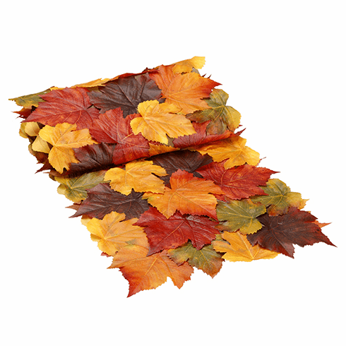 6' Long Artificial Maple Leaf Fall Table Runner - Set of 12 Runners