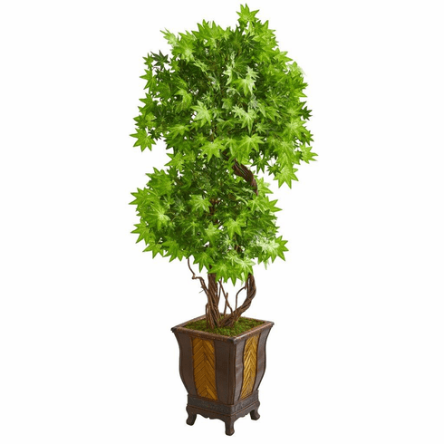 6' Maple Artificial Tree in Decorative Planter