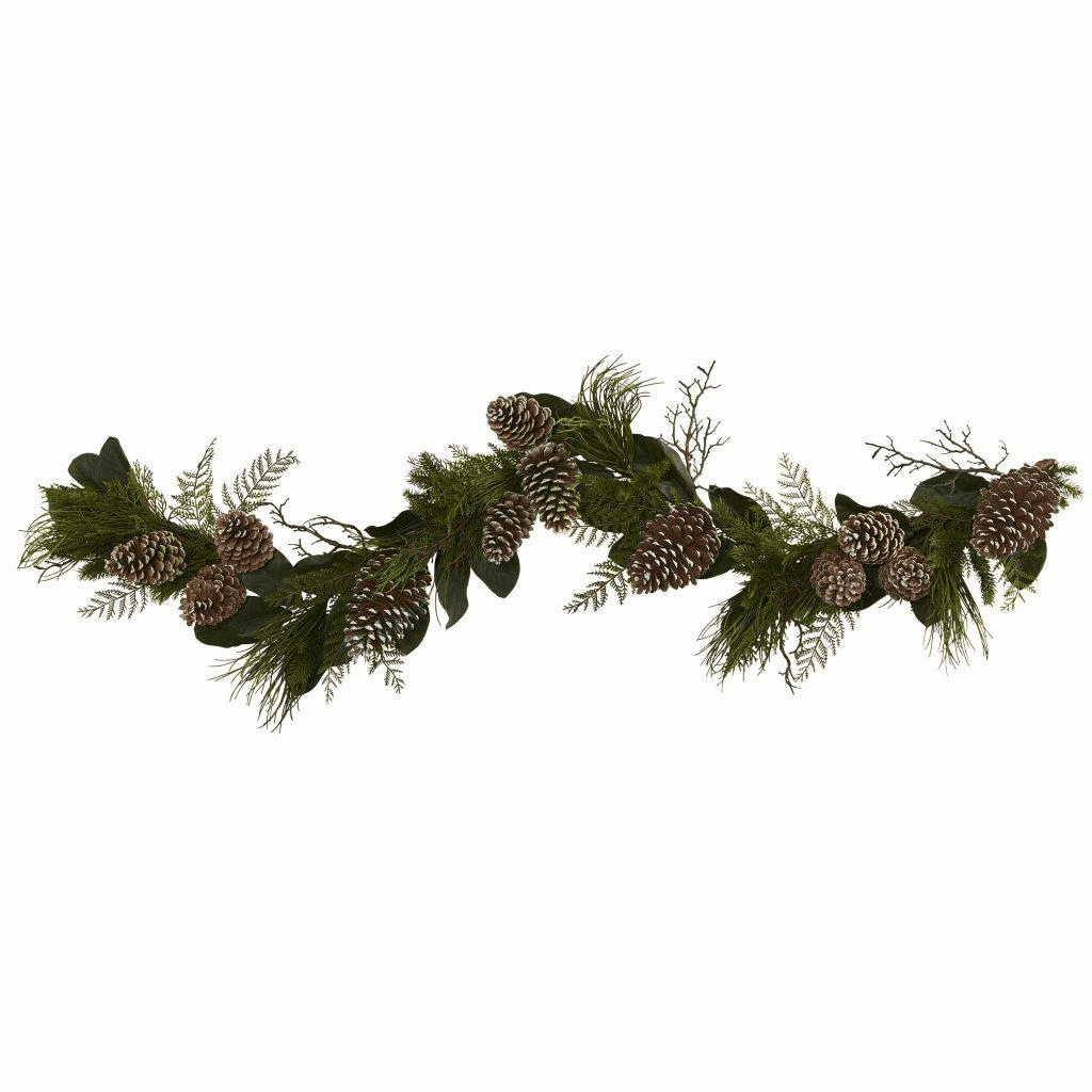 6� Pine Cone and Pine Artificial Garland Strand