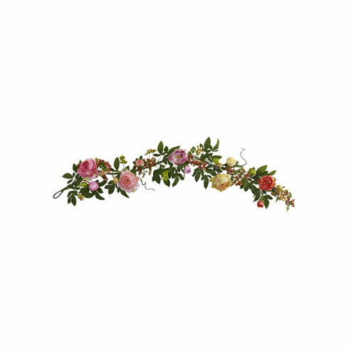 60'' Mixed Peony & Berry Garland