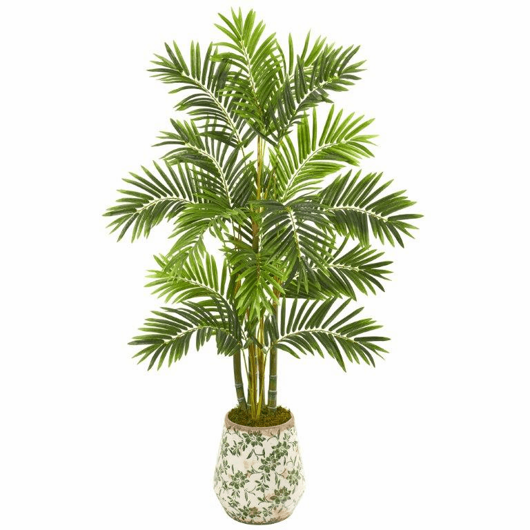 61� Areca Palm Artificial Tree in Floral Planter -