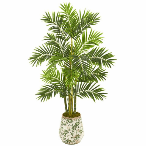"61"" Areca Palm Artificial Tree in Floral Planter -"