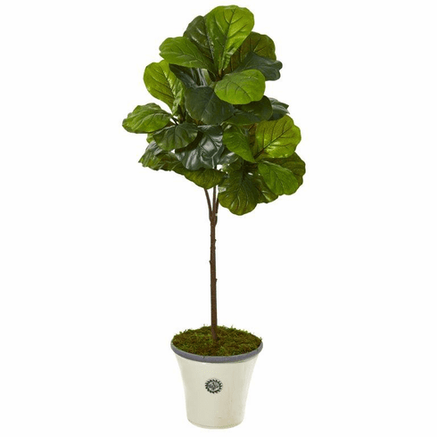 """61"""" Fiddle Leaf Artificial Tree in Planter (Real Touch) -"""
