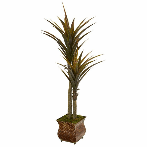 "61"" Yucca Artificial Tree in Decorative Planter"