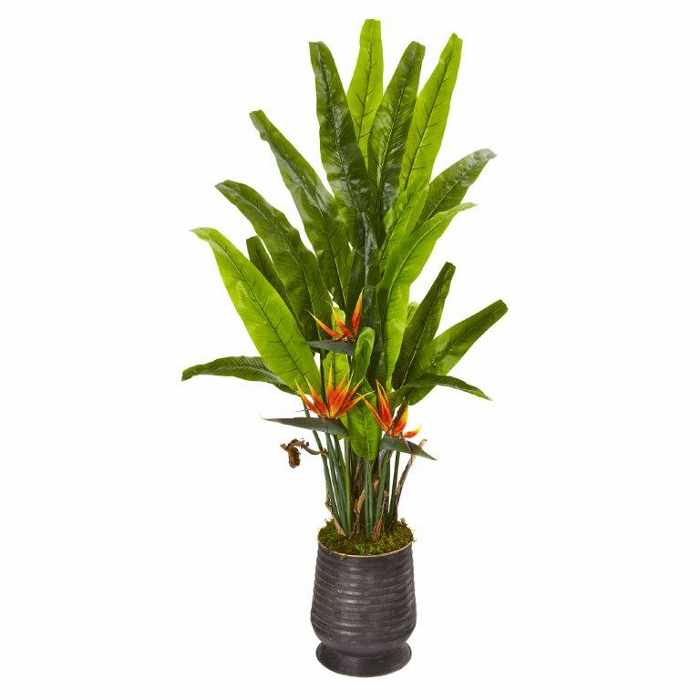62� Bird of Paradise Artificial Plant in Decorative Planter