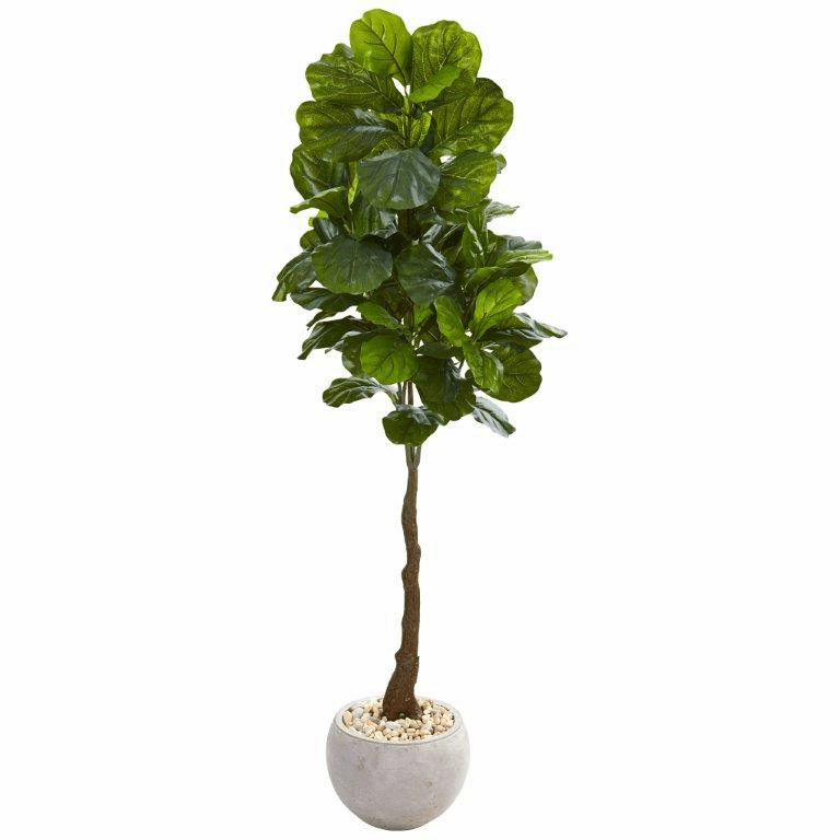 65� Fiddle Leaf Artificial Tree in Sand Colored Planter (Real Touch) -
