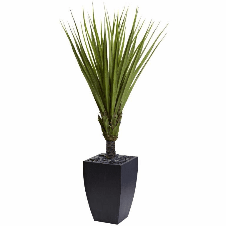 65� Spiky Agave Artificial Tree in Black Planter