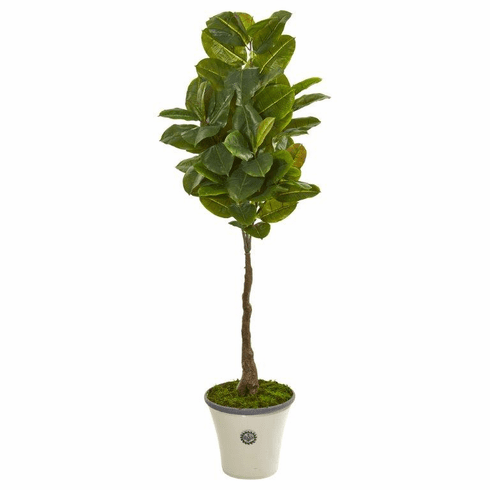 "67"" Rubber Leaf Artificial Tree in Planter (Real Touch)"