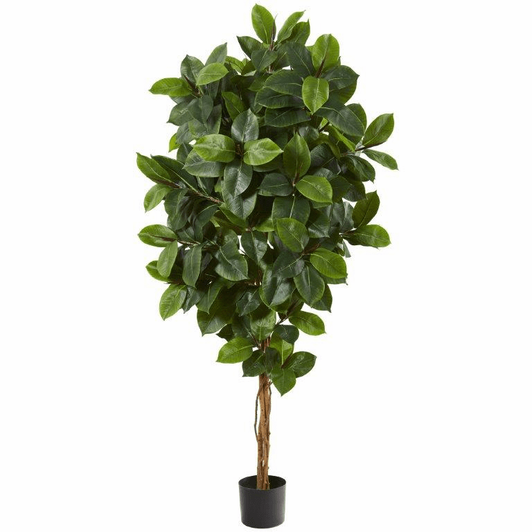 68� Rubber Leaf Artificial Tree