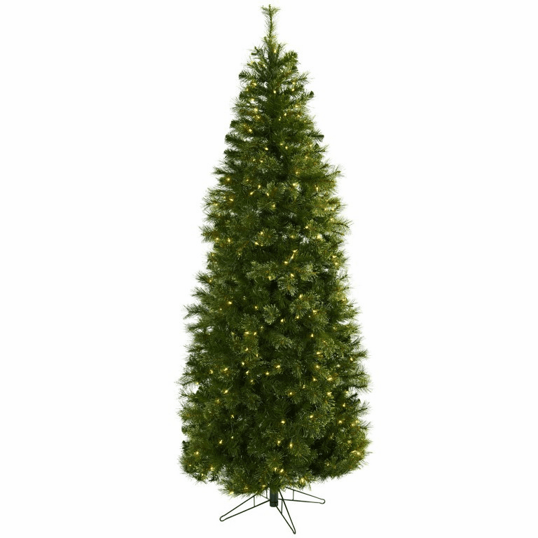 7.5� Cashmere Slim Christmas Tree w/Clear Lights