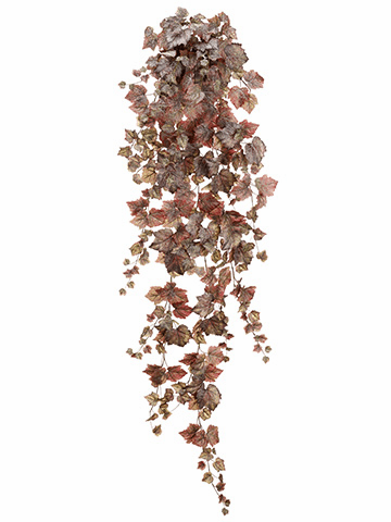 """70"""" Grape Ivy Hanging Artificial Bush with 370 Leaves - Set of 4"""