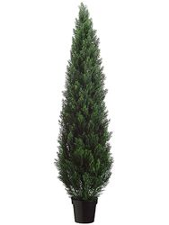 "72"" Artificial Cedar Topiary in Plastic Pot (knock-down Packing)"