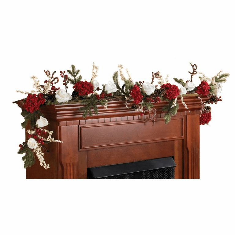 """72"""" Hydrangea Flower with White Roses Artificial Garland Strand"""