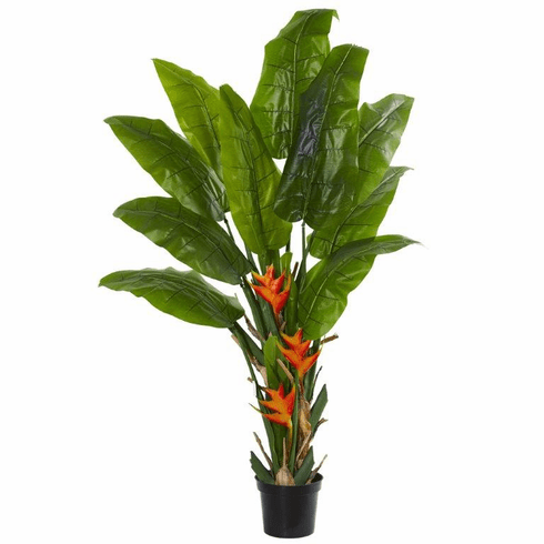 8' Flowering Travelers Palm Artificial Tree