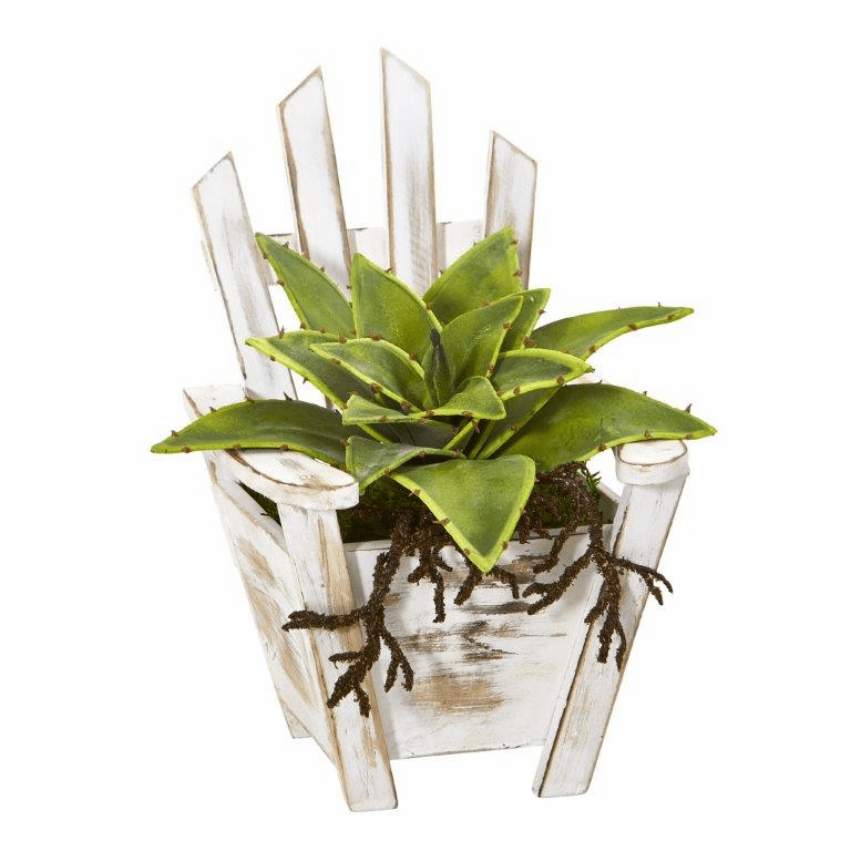 8� Sanseveria Artificial Plant with Roots in Chair Planter