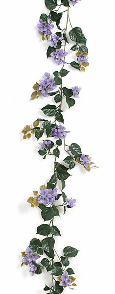 9.5' Polyblend UV Outdoor Bougainvillea Garlands - Set of 6 - UV Infused