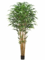 9' Artificial Tropical Bamboo Tree w/2752 Silk Leaves in Pot-Set of 2