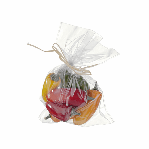 "9""H x 7""W Artificial Assorted Peppers in Bag (6 Bags X 8 Peppers)"