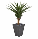 4' Agave Artificial Plant in Ceramic Planter