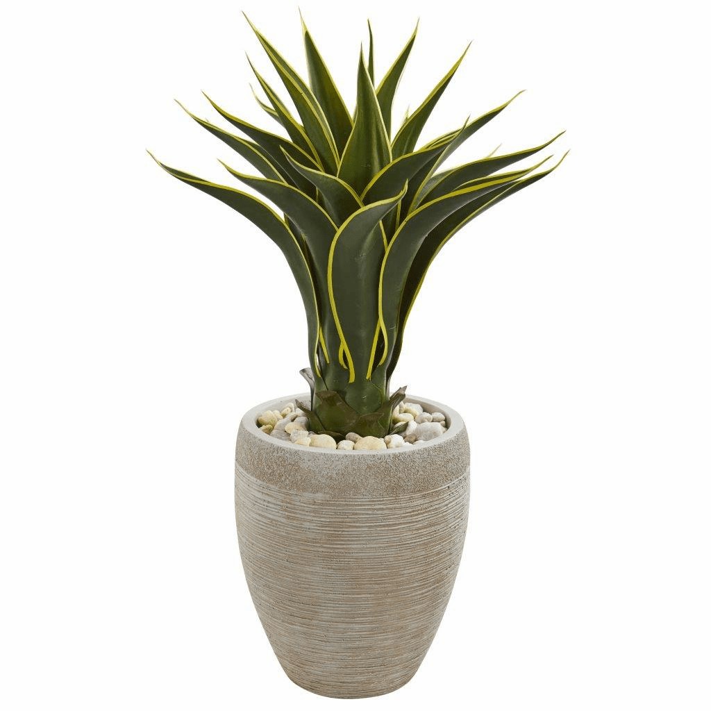 2.5' Agave Artificial Plant in Sand Colored Planter