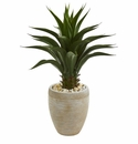 3' Agave Artificial Plant in Sand Colored Planter