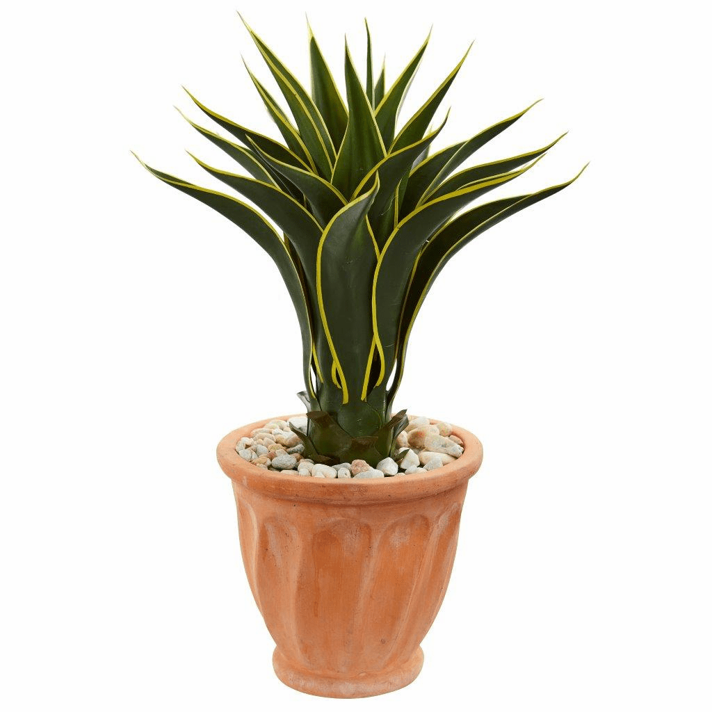 2.5' Agave Artificial Plant in Terra Cotta Planter