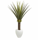 Agave Artificial Plant in White Planter - N/A