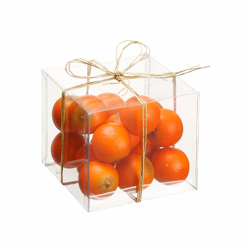 Artificial Assorted Orange in Acetate Box (16 in each box) - 12 boxes