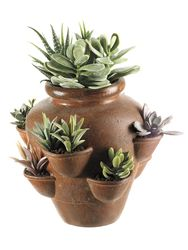 "12"" Artificial Cactus Garden in Terra Cotta Pot"