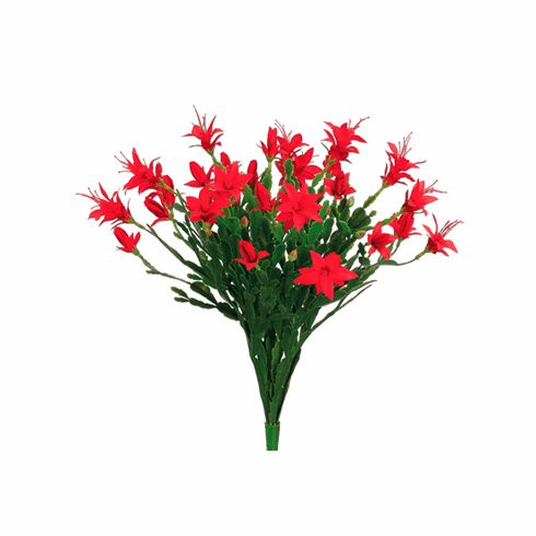"Artificial Christmas Cactus Bush - 16"" - Set of 12"