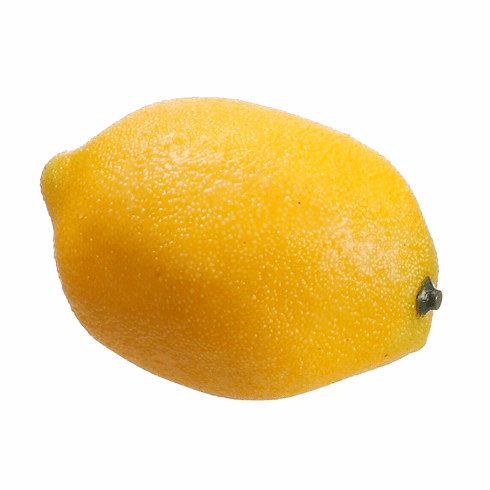 "2.7"" Weighted Yellow Fake Lemons - Set of 36"