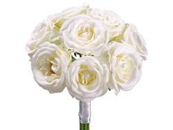"11"" Artificial Silk Flower Rose Bouquet - Set of 6"